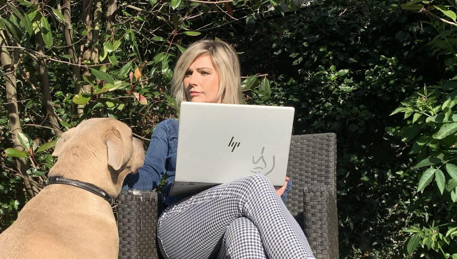 IdeaZilla (Tiffany Quinn) with her rescue dog Clara